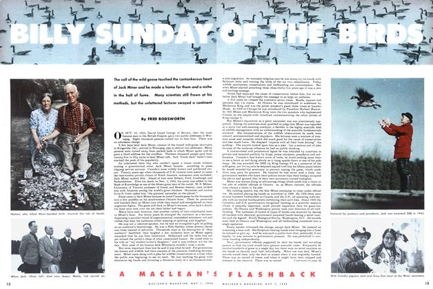 Article Preview: BILLY SUNDAY OF THE BIRDS, May 1952 | Maclean's