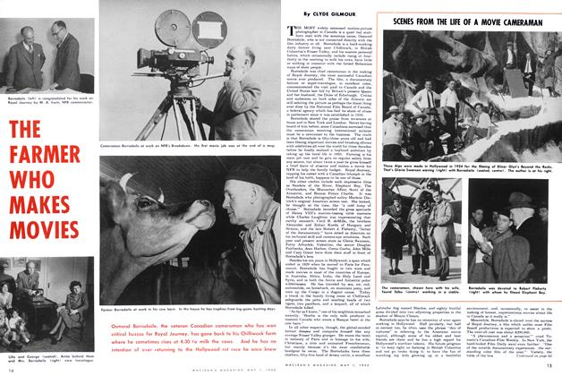 Article Preview: THE FARMER WHO MAKES MOVIES, May 1952 | Maclean's