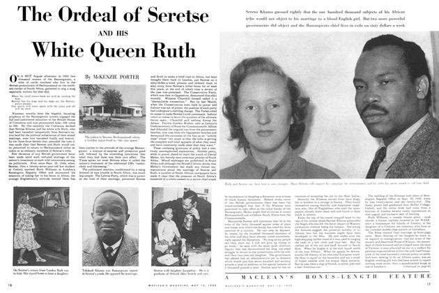 Article Preview: The Ordeal of Seretse AND HIS White Queen Ruth, May 1952 | Maclean's