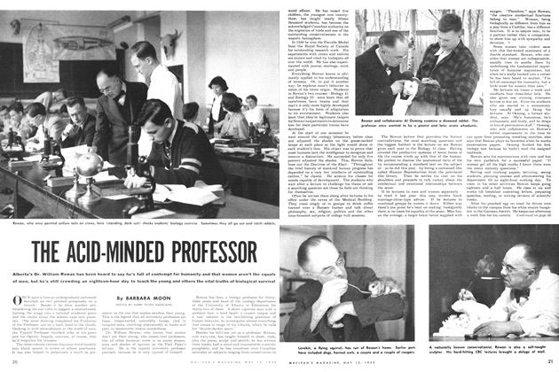 Article Preview: THE ACID-MINDED PROFESSOR, May 1952 | Maclean's