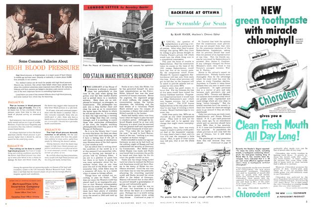 Article Preview: The Scramble for Seats, May 1952 | Maclean's
