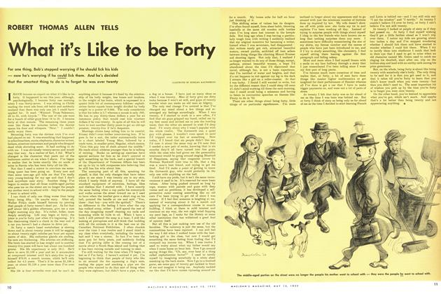 Article Preview: What it's Like to be Forty, May 1952 | Maclean's