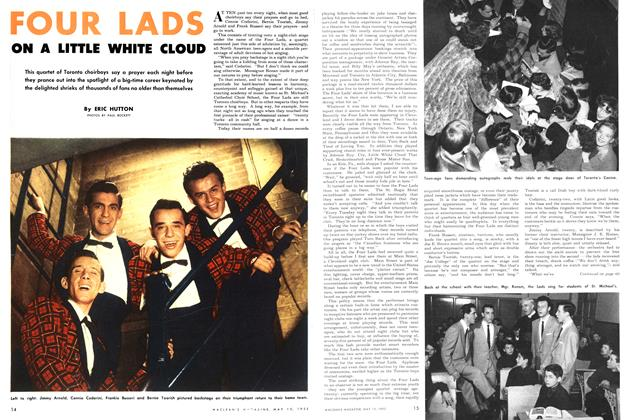 Article Preview: FOUR LADS ON A LITTLE WHITE CLOUD, May 1952 | Maclean's