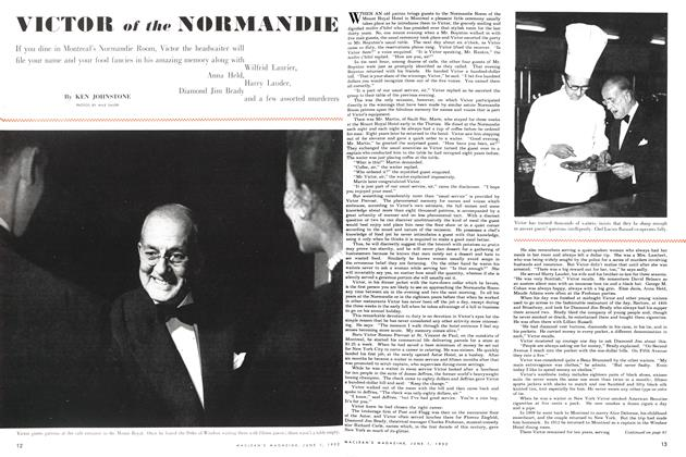 Article Preview: VICTOR of the NORMANDIE, June 1952 | Maclean's