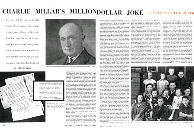 Article Preview: CHARLIE MILLAR'S MILLION DOLLAR JOKE, June 1952 | Maclean's