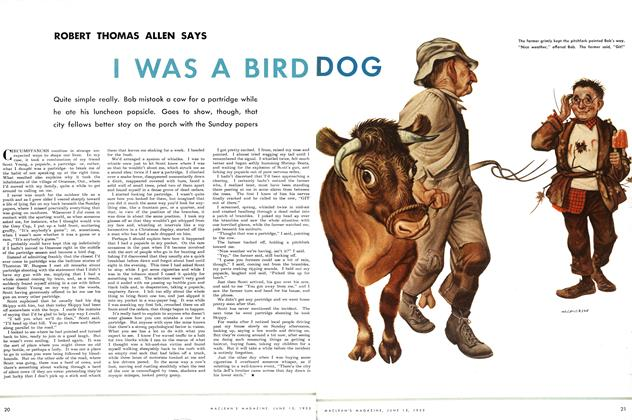 Article Preview: I WAS A BIRD DOG, June 1952 | Maclean's
