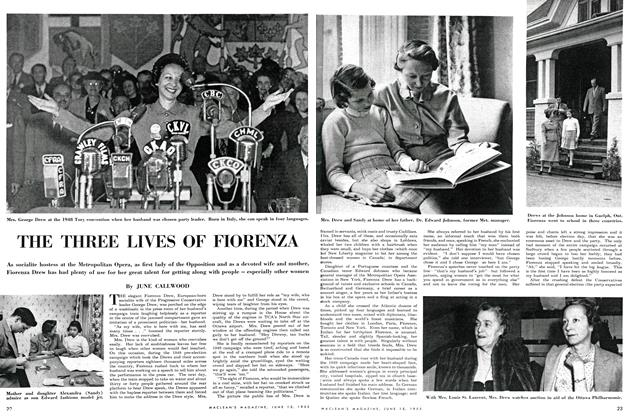 Article Preview: THE THREE LIVES OF FIORENZA, June 1952 | Maclean's