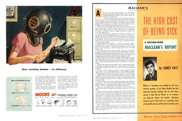 Article Preview: THE HIGH COST OF BEING SICK, June 1952 | Maclean's