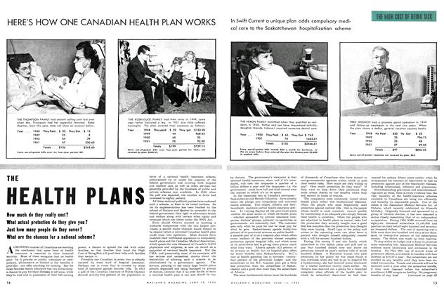 Article Preview: THE HEALTH PLANS, June 1952 | Maclean's