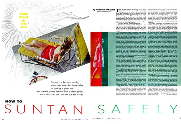 Article Preview: HOW TO SUN TAN SAFELY, July 1952 | Maclean's
