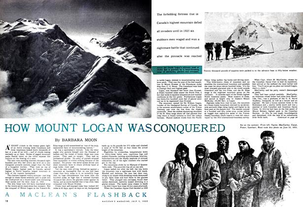 Article Preview: HOW MOUNT LOGAN WAS CONQUERED, July 1952 | Maclean's