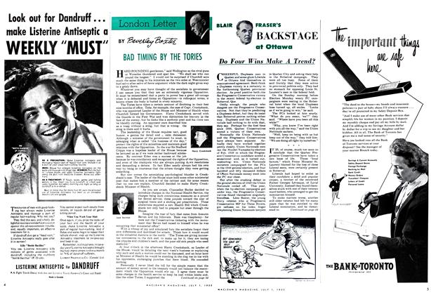 Article Preview: BAD TIMING BY THE TORIES, July 1952   Maclean's
