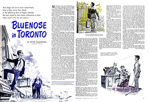 Article Preview: BLUENOSE in TORONTO, July 1952 | Maclean's
