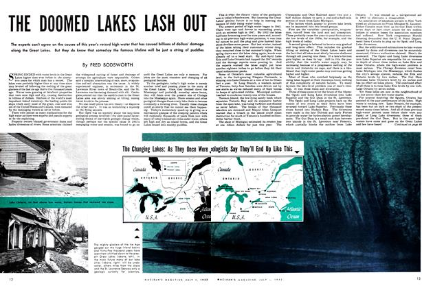 Article Preview: THE DOOMED LAKES LASH OUT, July 1952 | Maclean's