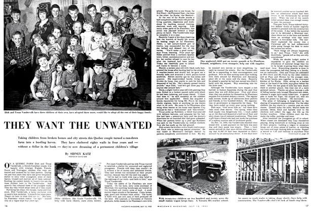 Article Preview: THEY WANT THE UNWANTED, July 1952 | Maclean's
