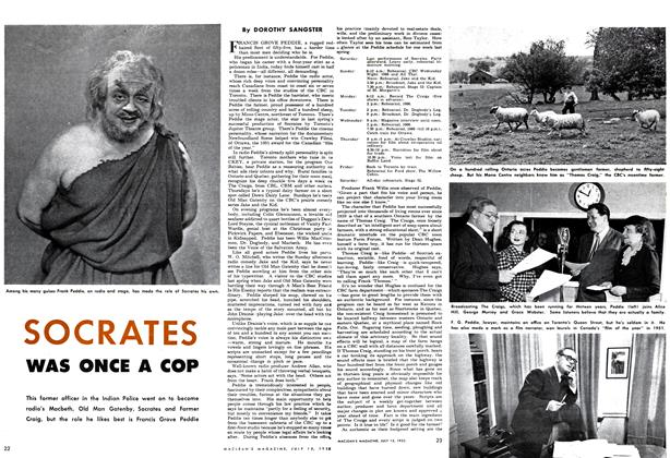 Article Preview: SOCRATES WAS ONCE A COP, July 1952 | Maclean's