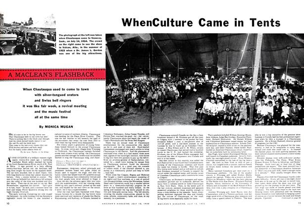 Article Preview: When Culture Came in Tents, July 1952 | Maclean's