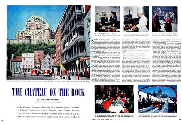 Article Preview: THE CHATEAU ON THE ROCK, July 1952 | Maclean's