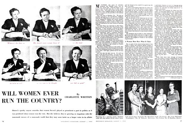 Article Preview: WILL WOMEN EVER RUN THE COUNTRY?, August 1952 | Maclean's