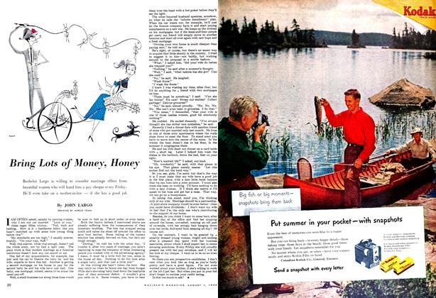 Article Preview: Bring Lots of Money, Honey, August 1952 | Maclean's
