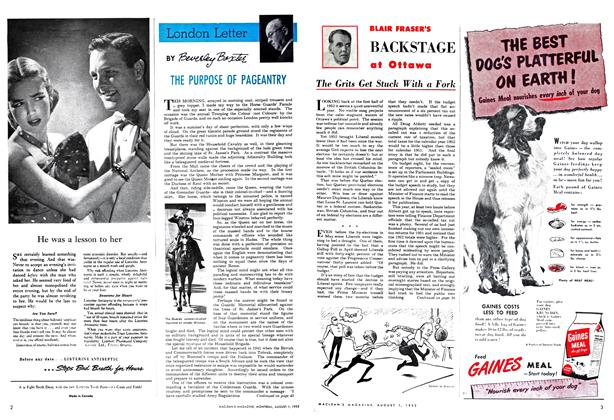 Article Preview: THE PURPOSE OF PAGEANTRY, August 1952 | Maclean's