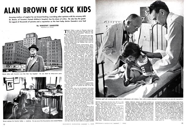 Article Preview: ALAN BROWN OF SICK KIDS, August 1952 | Maclean's