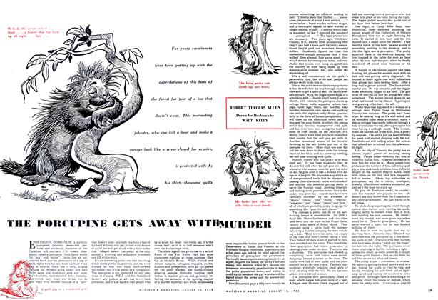 Article Preview: THE PORCUPINE GETS AWAY WITH MURDER, August 1952 | Maclean's