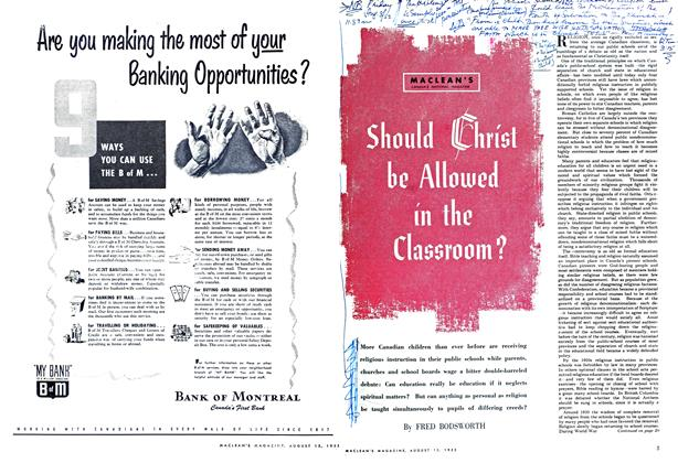 Article Preview: Should Christ be Allowed in the Classroom?, August 1952 | Maclean's