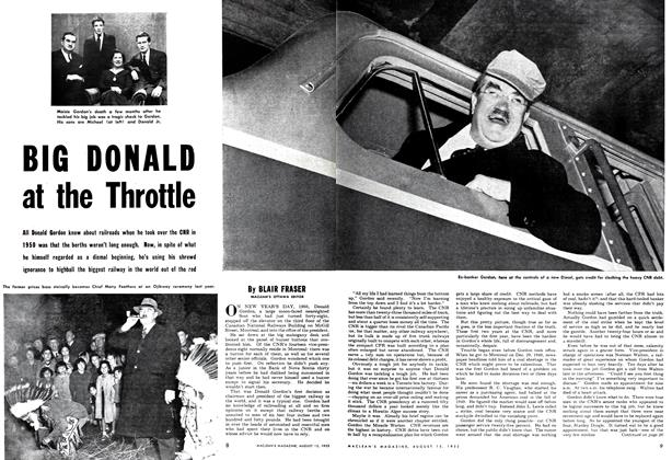Article Preview: BIG DONALD at the Throttle, August 1952 | Maclean's