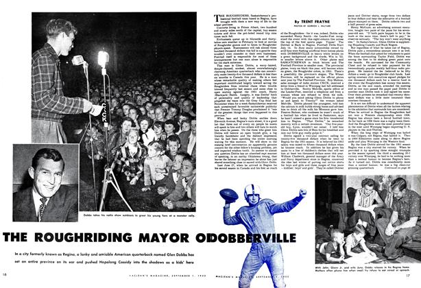 Article Preview: THE ROUGHRIDING MAYOR OF DOBBERVILLE, September 1952 | Maclean's