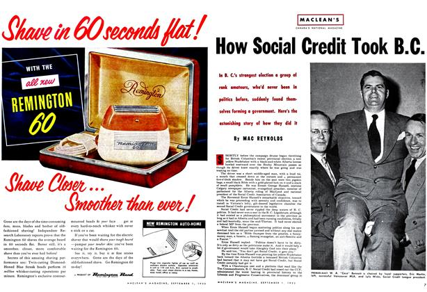 Article Preview: How Social Credit Took B.C., September 1952 | Maclean's