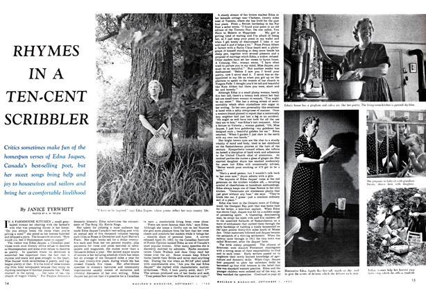 Article Preview: RHYMES IN A TEN-CENT SCRIBBLER, September 1952   Maclean's