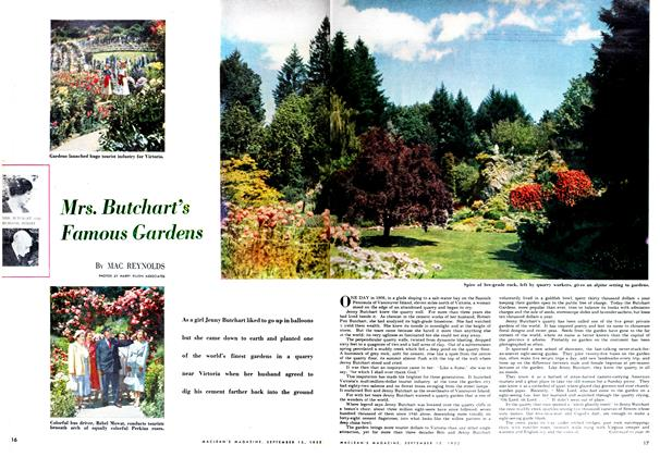 Article Preview: Mrs. Butchart's Famous Gardens, September 1952 | Maclean's