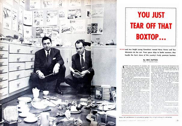 Article Preview: YOU JUST TEAR OFF THAT BOXTOP..., September 1952 | Maclean's