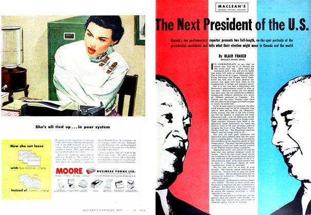 Article Preview: The Next President of the U.S., September 1952 | Maclean's