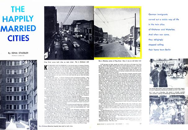 Article Preview: THE HAPPILY MARRIED CITIES, October 1952 | Maclean's