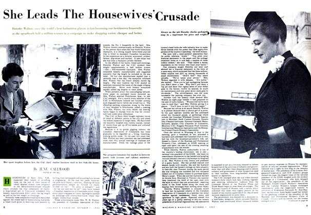 Article Preview: She Leads The Housewives'Crusade, October 1952 | Maclean's