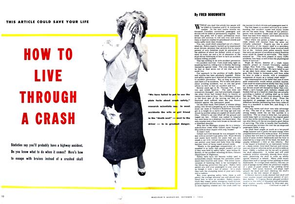 Article Preview: HOW TO LIVE THROUGH A CRASH, October 1952 | Maclean's