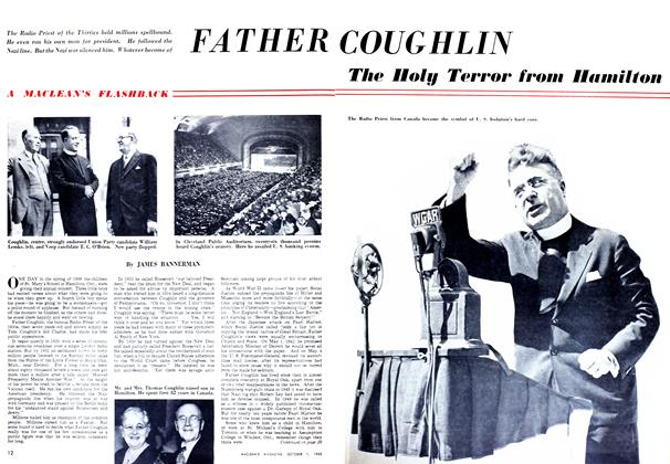 Article Preview: FATHER COUGHLIN, October 1952 | Maclean's