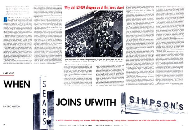Article Preview: WHEN SEARS JOINS UP WITH SIMPSON'S, October 1952 | Maclean's