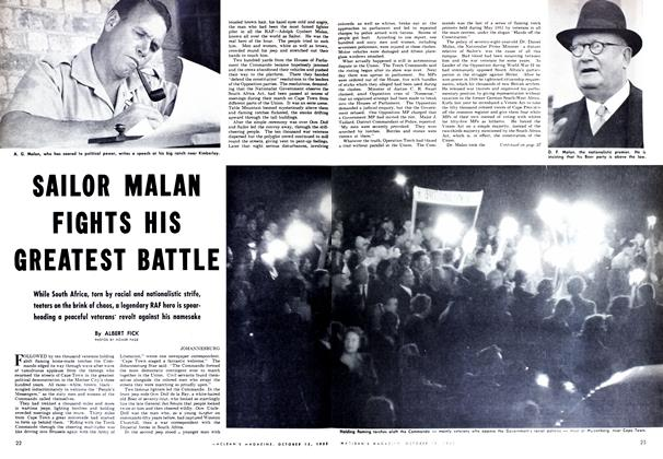 Article Preview: SAILOR MALAN FIGHTS HIS GREATEST BATTLE, October 1952 | Maclean's