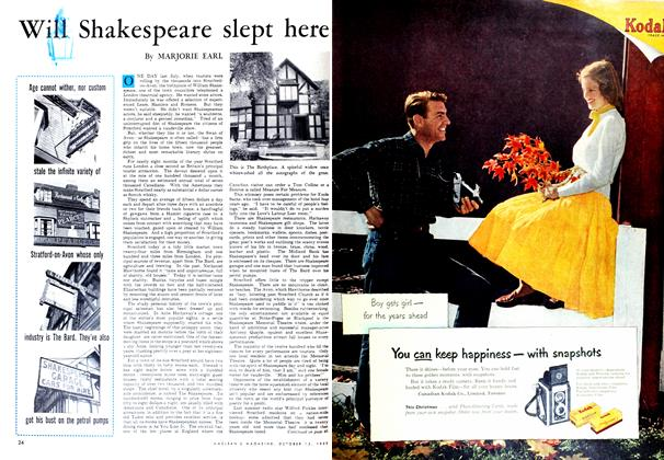 Article Preview: Will Shakespeare slept here, October 1952 | Maclean's