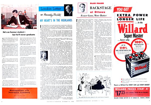 Article Preview: Fewer Guns, More Butter, October 1952 | Maclean's