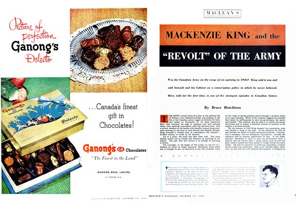 "Article Preview: MACKENZIE KING and the ""REVOLT"" OF THE ARMY, October 1952 