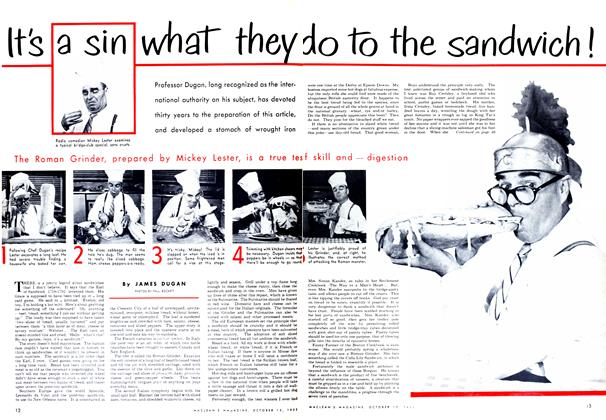 Article Preview: It's a sin what they do to the sandwich!, October 1952 | Maclean's