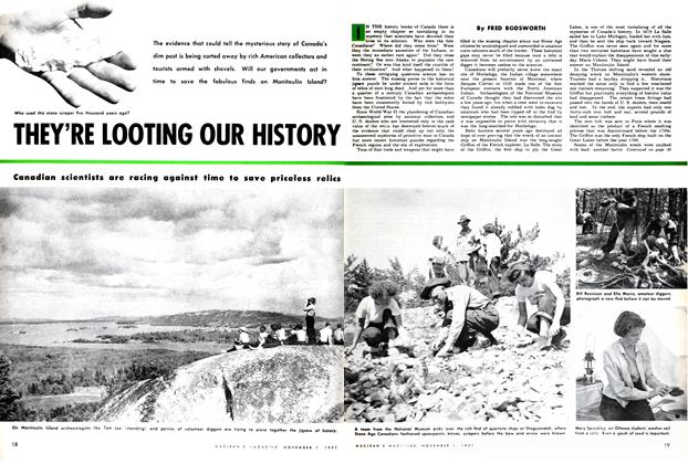 Article Preview: THEY'RE LOOTING OUR HISTORY, November 1952 | Maclean's