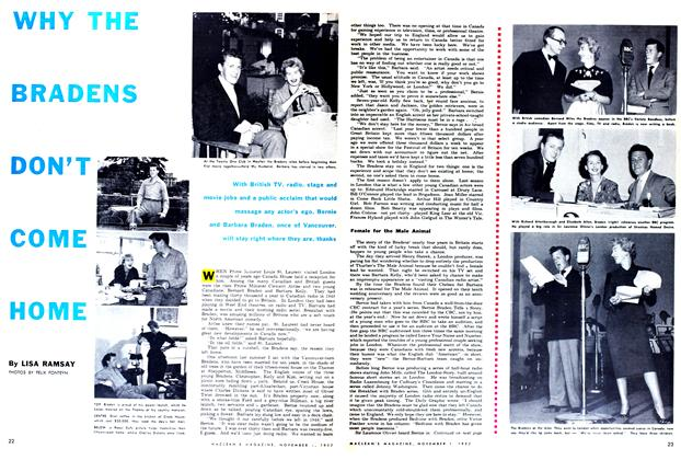 Article Preview: WHY THE BRADENS DON'T COME HOME, November 1952 | Maclean's