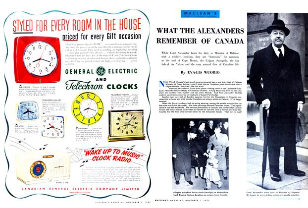 Article Preview: WHAT THE ALEXANDERS REMEMBER OF CANADA, November 1952 | Maclean's