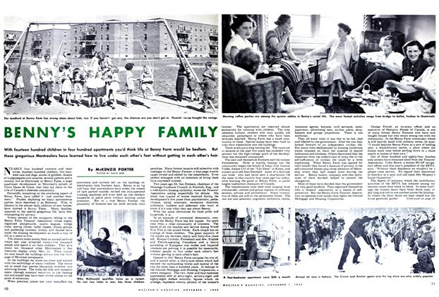 Article Preview: BENNY'S HAPPY FAMILY, November 1952 | Maclean's