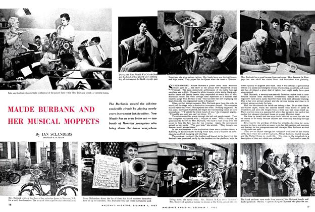Article Preview: MAUDE BURBANK AND HER MUSICAL MOPPETS, December 1952 | Maclean's